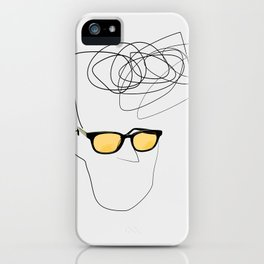 Unknown Man Portrait With Cool Haircut iPhone Case