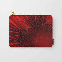 Pleated Red Carry-All Pouch