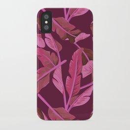 Tropical '17 - Ajaja [Banana Leaves] iPhone Case