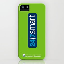 24/7 SMART in lime green iPhone Case