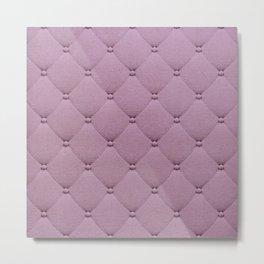 Pastel pink elegant upholstery pattern Metal Print
