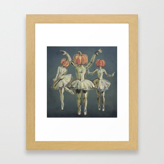 Pumpkin Bunheads Framed Art Print