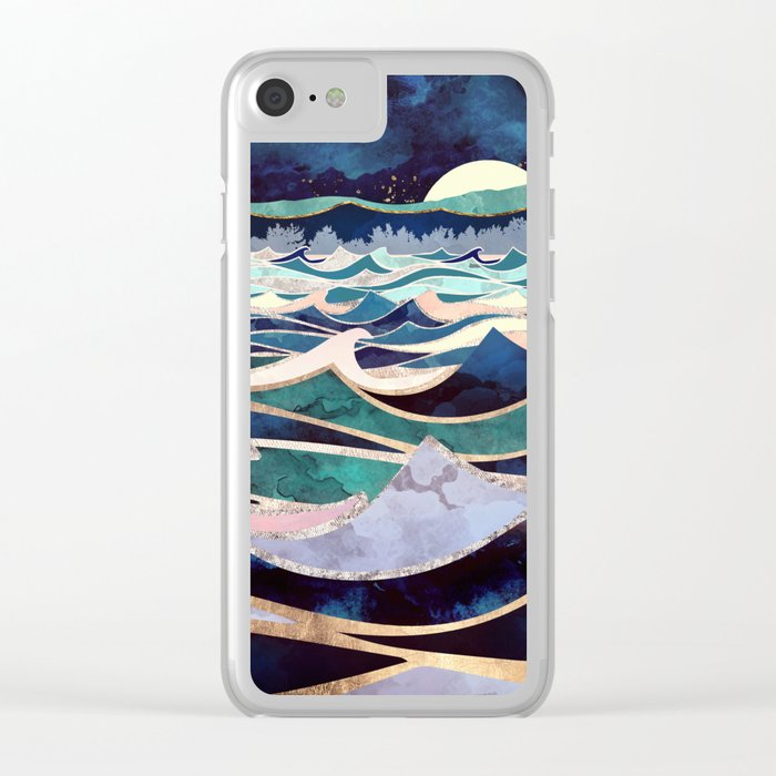 Moonlit Ocean Clear iPhone Case