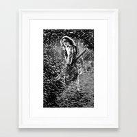 winter soldier Framed Art Prints featuring Winter Soldier by Mari Vasilescu