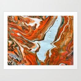 Colorful Pours Art Print