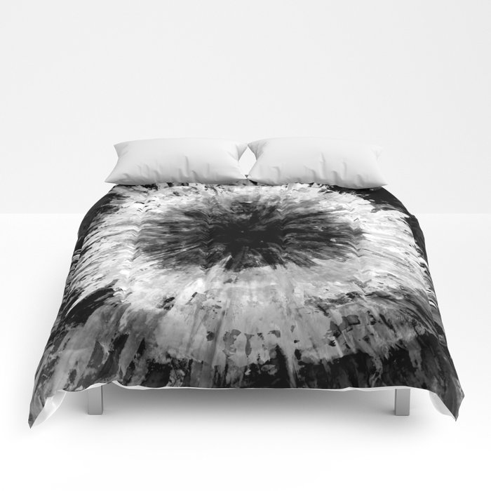 Black And White Tie Dye Painted Multi Media