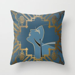Art Deco Graphic No. 151 Throw Pillow