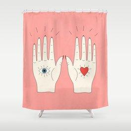 Raising Hands Shower Curtain