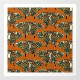 swallowtail butterfly copper Art Print