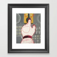 Space Hand Framed Art Print