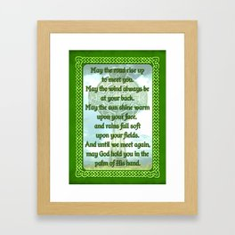 Green Irish Blessing Framed Art Print