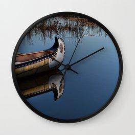 The Way of the Canoe Wall Clock