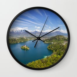 Lake Bled Wall Clock