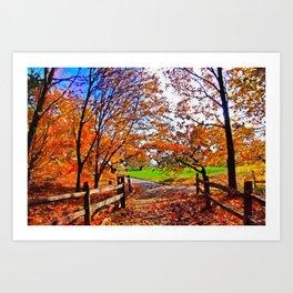 Autumn Walkway Art Print