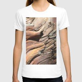 Eucalyptus tree bark texture T-shirt