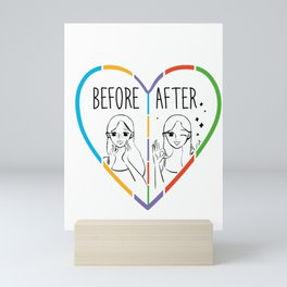 Before After Makeup Beauty Skincare Cosmetic Mini Art Print