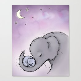 Goodnight Elephants Canvas Print