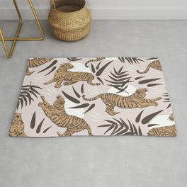 Tigers and Bamboo Leaves Rug
