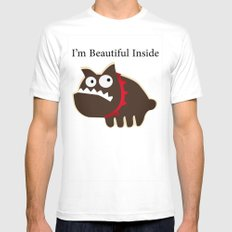I'm beautiful inside White MEDIUM Mens Fitted Tee