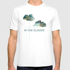 In The Clouds MEDIUM Mens Fitted Tee White