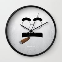 marx Wall Clocks featuring GROUCHO MARX by Alberto Lamote de Grignon