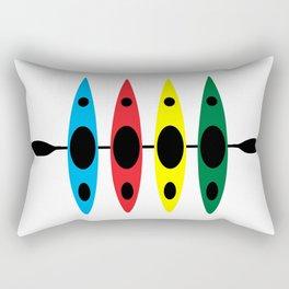 Four Kayaks | DopeyArt Rectangular Pillow