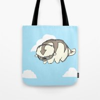 appa Tote Bags featuring sky bison by maysillee