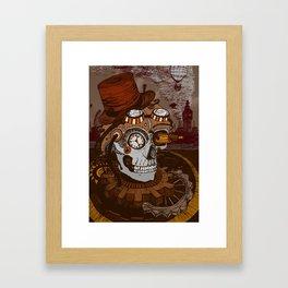 Steampunk Skull Framed Art Print