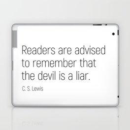 The Devil is a Liar #minimalism #quotes Laptop & iPad Skin
