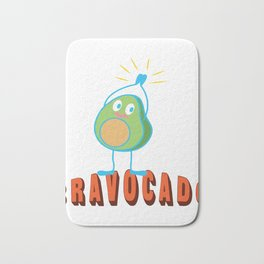 Bravo Applause Avocado Funny Lecture Gift Bath Mat