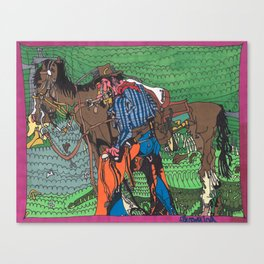 One of a Kind Cowboy Canvas Print