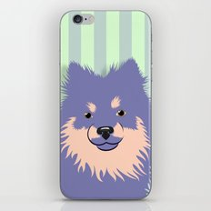 Olie the Pomeranian in Purple iPhone & iPod Skin