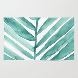 Green Palm Leaf Rug