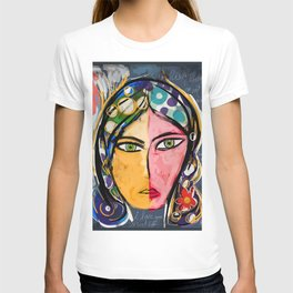 Portrait of a mystique girl T-shirt