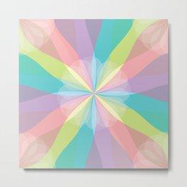 Squared Pinwheel of Pastels Metal Print