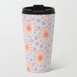Carousel Blue Retro Travel Mug
