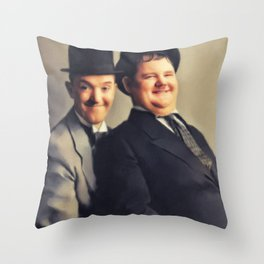 Laurel and Hardy Throw Pillow