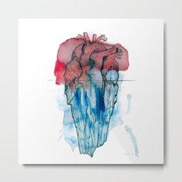 Corazón Iceberg Metal Print