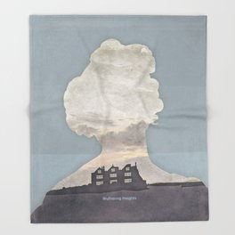 Emily Brontë Wuthering Heights - Minimalist literary design Throw Blanket