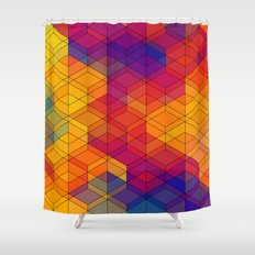 Cuben Intense No.1 Shower Curtain