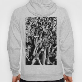 Crowd In Black and White Hoody