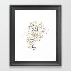 multicolor diamonds Framed Art Print