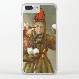 Red fox return Clear iPhone Case