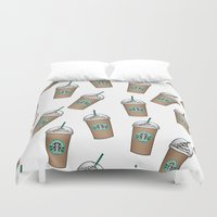 starbucks Duvet Covers featuring Starbucks by eARTh