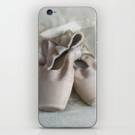 Pink ballet shoes iPhone Skin