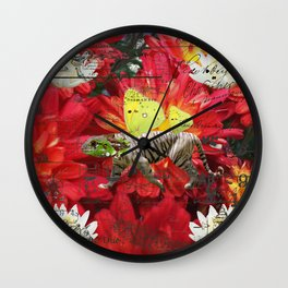ANIMAL MIX : THE TIGER LIZARD AND THE LOTUS Wall Clock