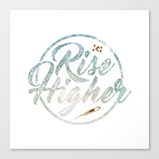 Rise Higher Shooting Star Canvas Print