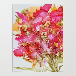 Summer Bouquet of Flowers Poster