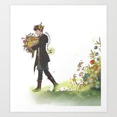 Flower Witch Boy Art Print
