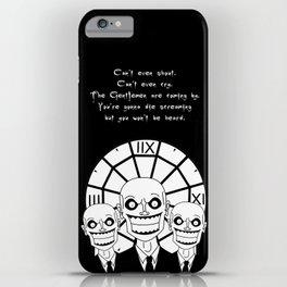 Hush - The Gentlemen (Black) iPhone Case